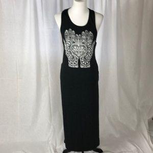 Dresses & Skirts - Hamsa Boho Slide slit maxi Racerback dress sz S